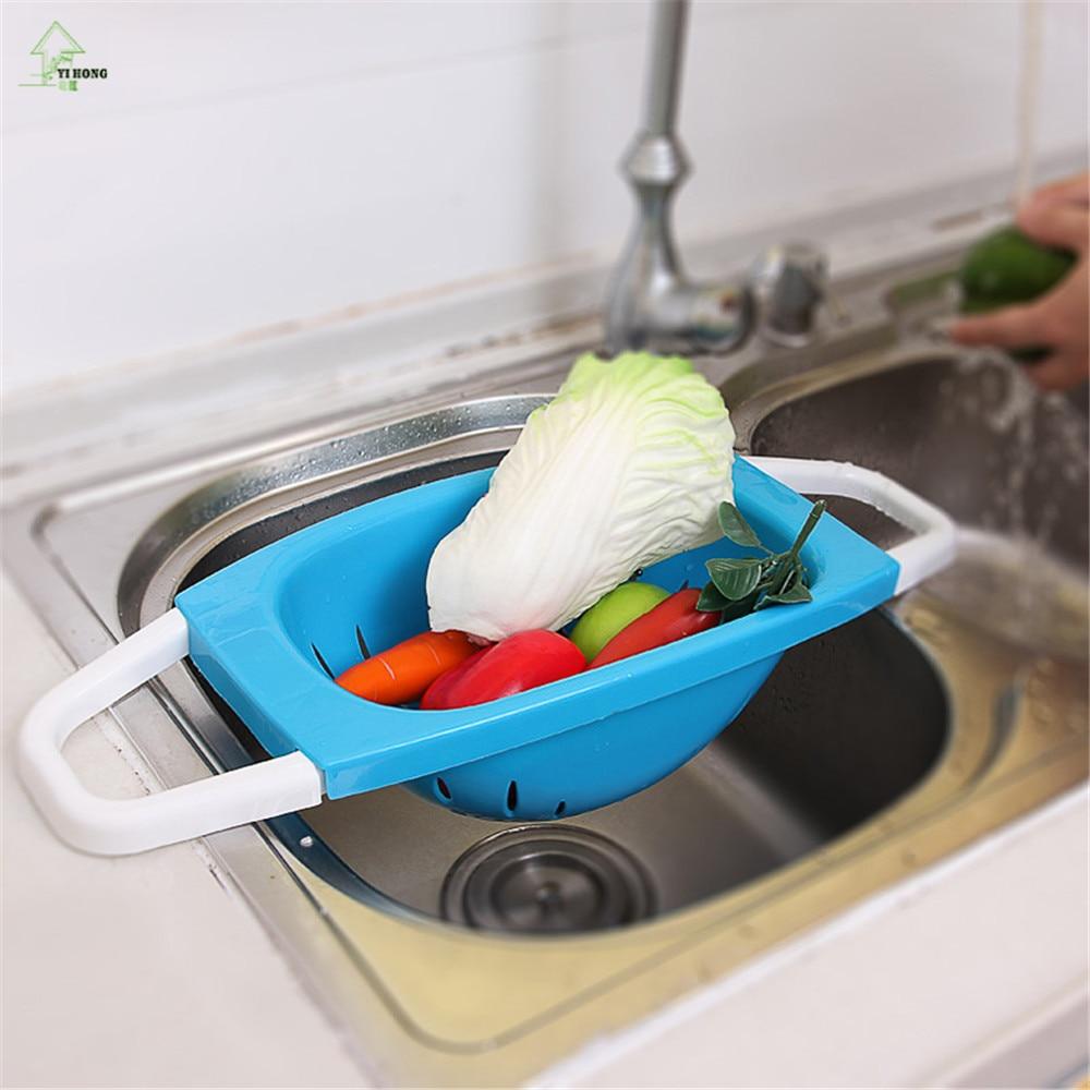YIHONG Plastic Storage Wash Holder Basket Kitchen Shelf Tray Bowl ...
