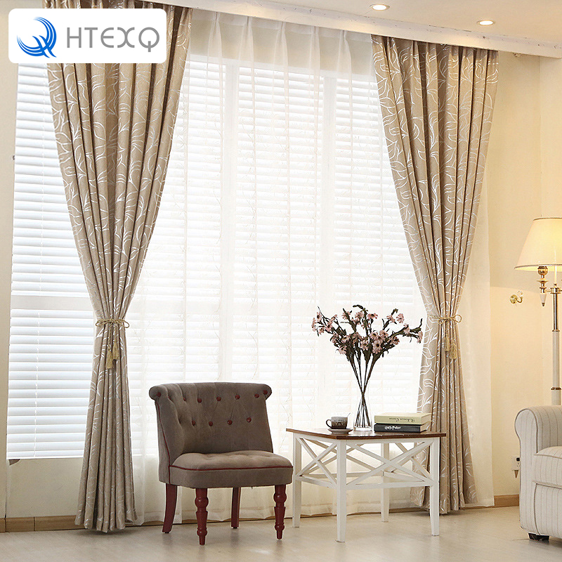 New Home Valances Leaves Blackout Curtain Door Window Drape Panel Scarf For Living Room