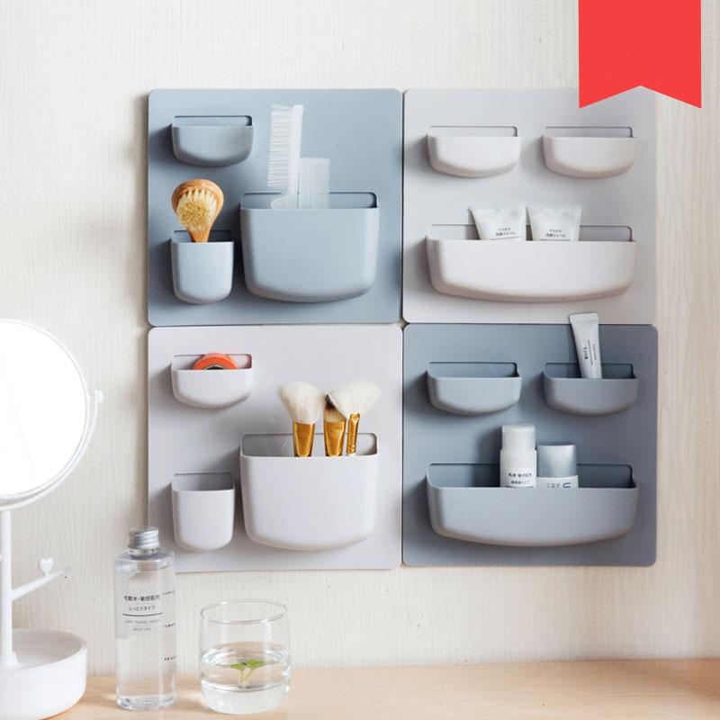 US $10.84 30% OFF|Paste Wand Regal Küche Finisher Schlafsaal Artefakt  Toilette Kein Stanzen Bad wandhalterung Lagerung und finishing Regal-in  Halter & ...