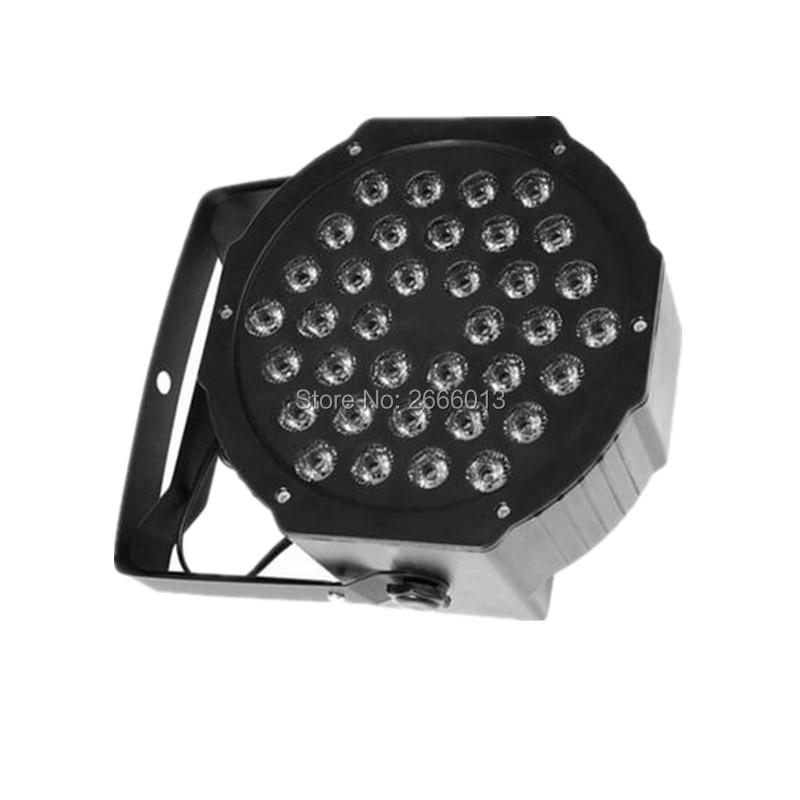 36X3W Flat LED Par Light RGB Disco Lamp DMX512 Stage Lighting Luces Discoteca Laser Beam Luz De Projector Lumiere DMX Controller 6units 24x12w rgbw 4in1 aluminum led par can disco lamp stage lights luces discoteca laser beam luz de projector led par light