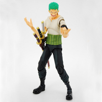 Anime One Piece Roronoa Zoro Past Blue Variable Boxed 18cm Action Figure Collection Model Doll Toys