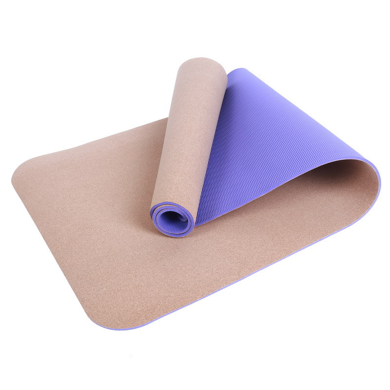 Yoga Mat cork+TPE 4mm thick senior professional yoga with ...