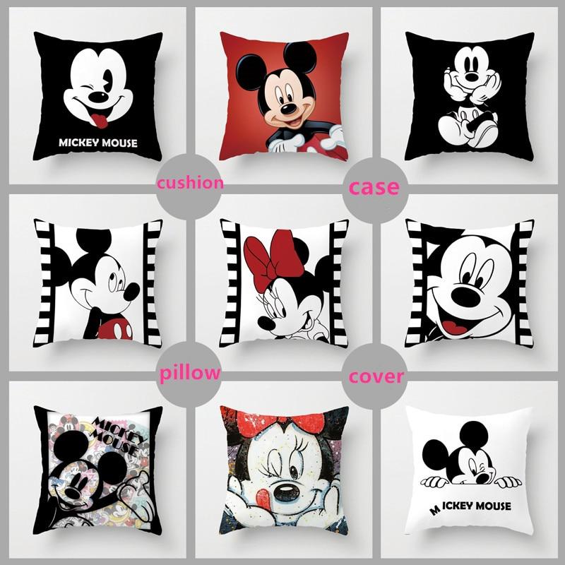 Disney Kissenbezug 40 cm x 40 cm Mickey Mouse Minnie Mouse
