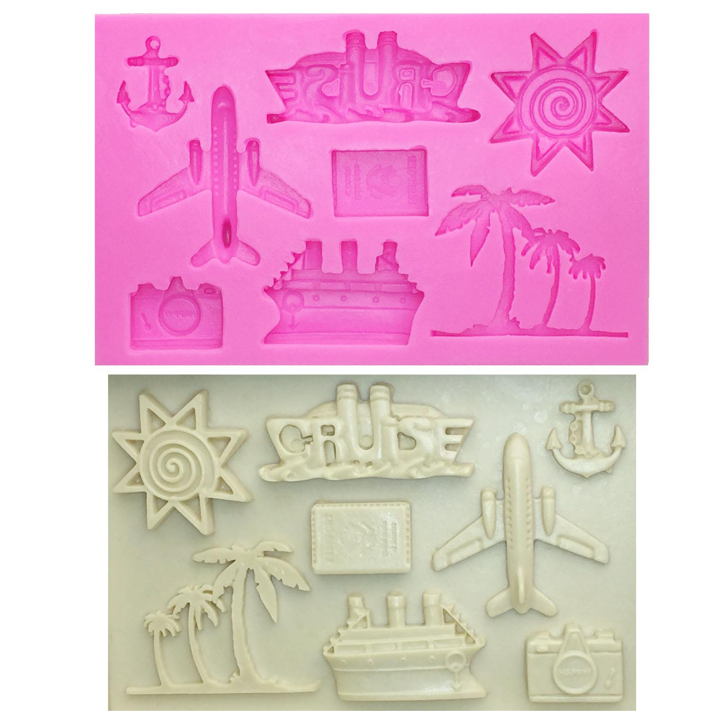 Sea Beach Silicone Fondant Moule Chocolat Gâteau Bakeware Topper Cupcake Moule 3D