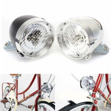 world-wind#3011 3 LED Flashlight Bicycle Front Light Bike LampRetro Vintage Lighthouse Lantern free shipping