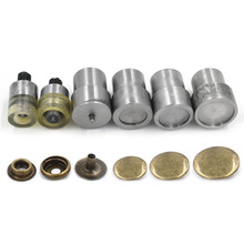 201 snap button mold. Metal tools. die. Hand press machine. Button to install the Top cover 17mm 20mm diameter. 6PCS =1Set