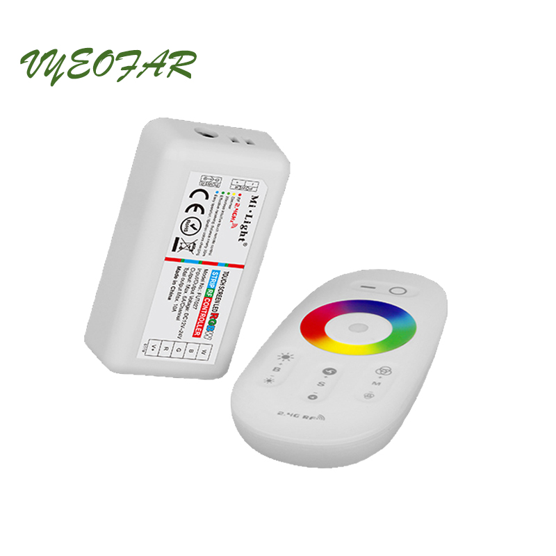 New Milight RGBW LED Strip Controller FUT027 Led controller RGBW 12V 24V 2.4GHz RF touch Led remote Control Wireless 5050 Strip
