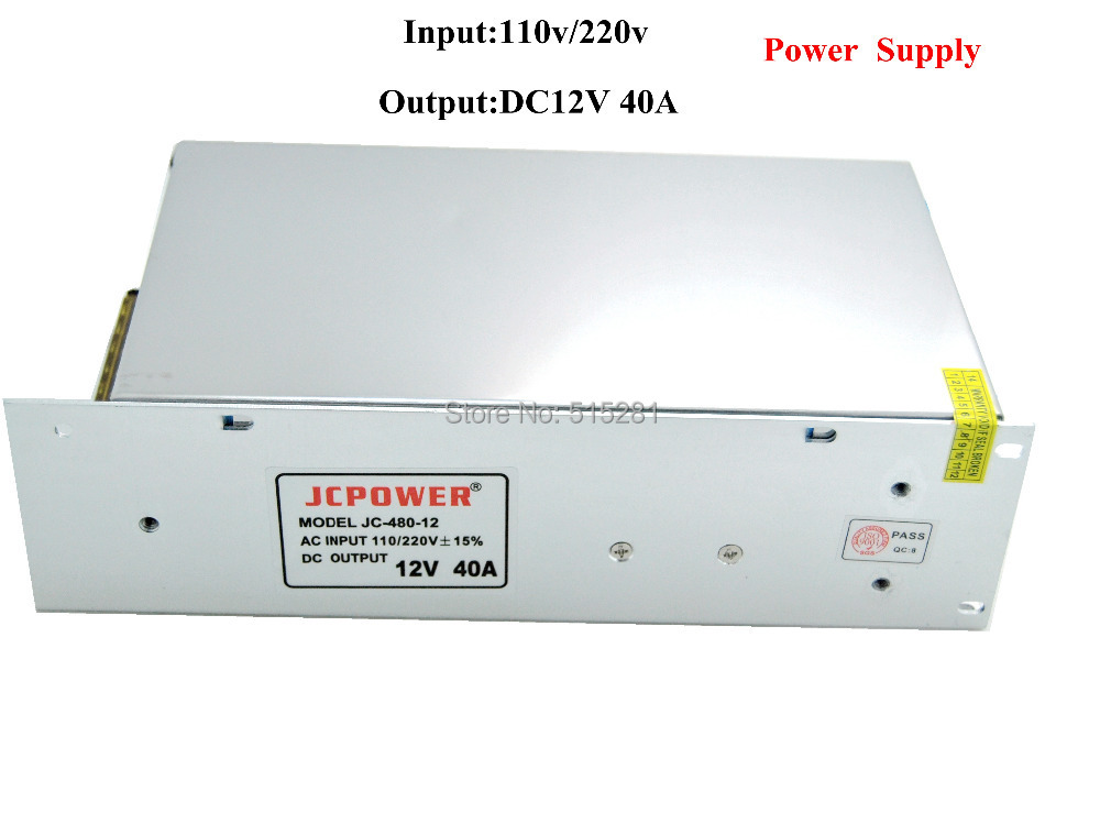 BSOD LED Switching Power Supply 7 Pack DC12V 40A 480W Transformer Input AC110/220V dmwd switching power supply 40a power