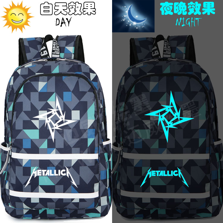 New Metallica Band Heavy Metal Rock Backpack Men And Women Student Bag Leisure Travel Bag Teenage Girl Backpacks Boy Laptop Bag