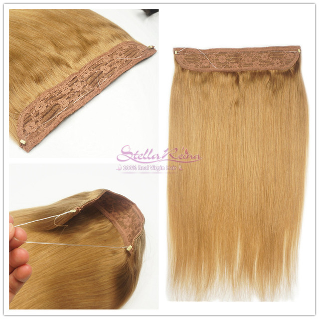 Stella Reina Halo Crown Hair Extensions 27 Honey Blonde Brazilian