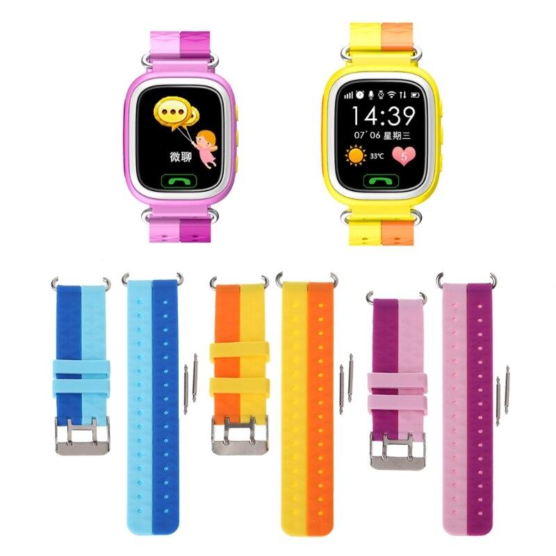 JAVRICK Silicone Wrist Watch Band Bracelet For Children GPS Smart Watch Series 1 2 Strap children s knitting silicone bands diy quartz analog bracelet wrist watch orange 1 x 377