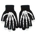 Скелет Экран Перчатки Рука Теплее Черный Варежки Для Смартфонов