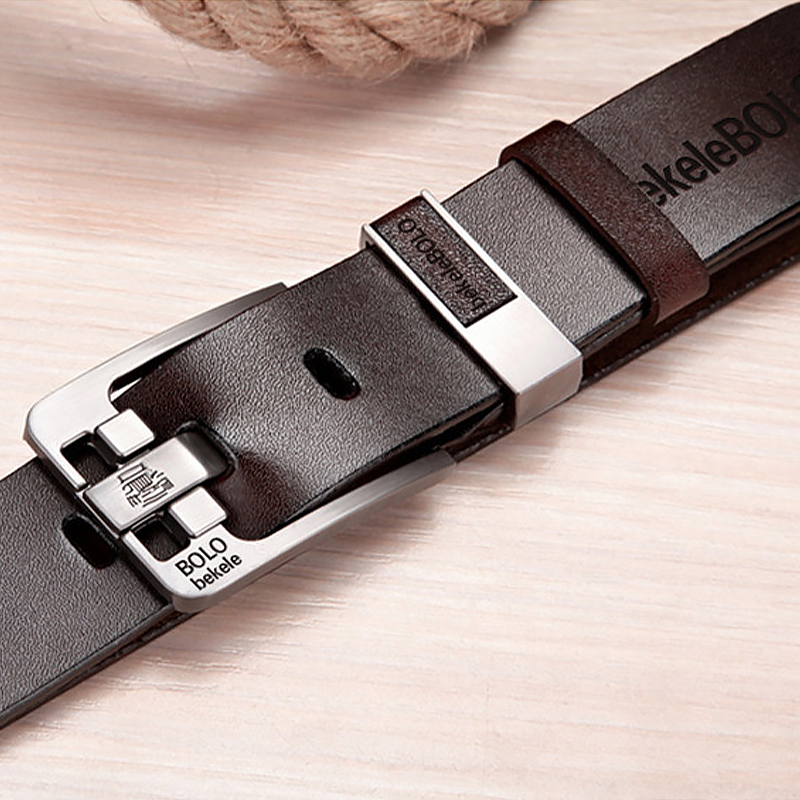Fashion Belt Male Leather Belt Men Genuine Pin Buckle Belts Mens Leather Causal Belts For Men High Quality Ceinture Homme   1022
