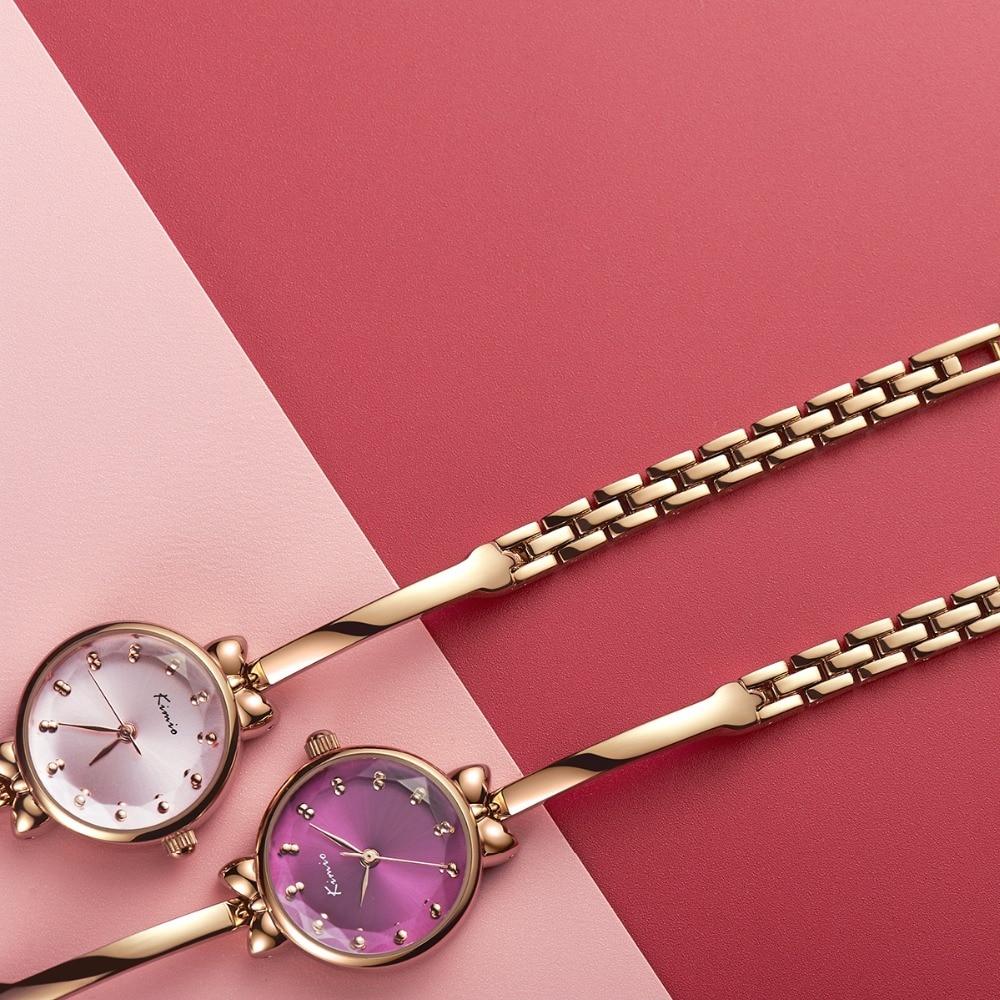 Kimio Lüks Kadınlar İzle Ünlü Marka Altın Moda Tasarım Bilezik - Kadın Saatler - Fotoğraf 2