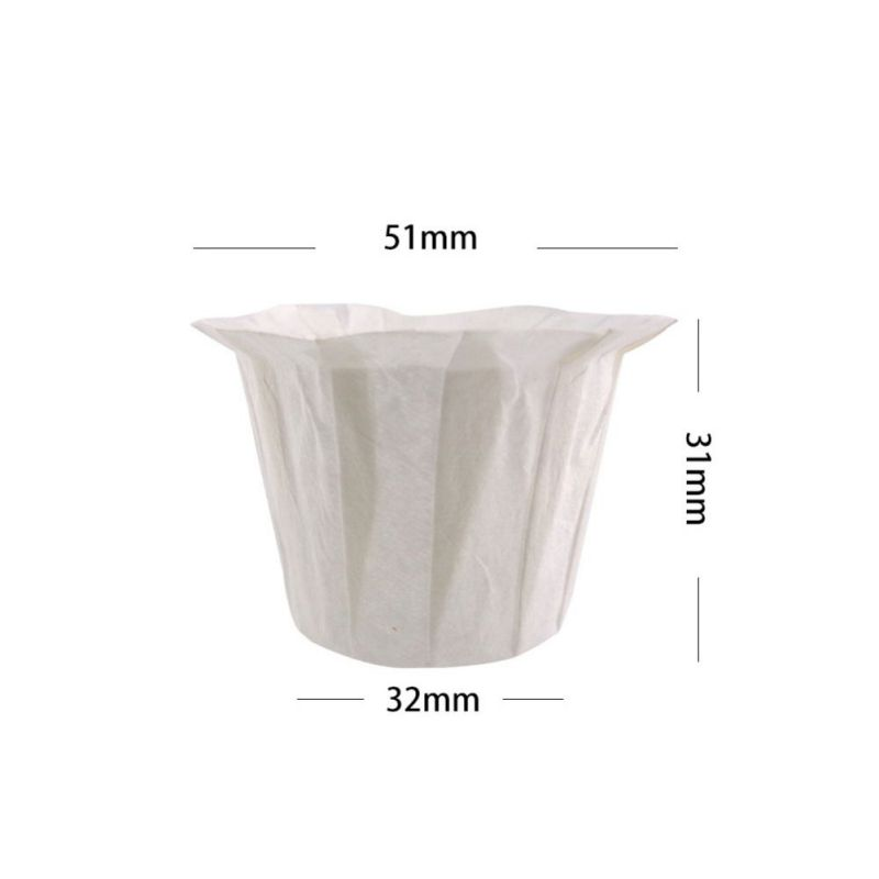100pcs White Coffee Filters Single Serving Paper For Coffee Machine Filter Paper Cake Cup Coffee Filter Paper Bowl Coffeeware