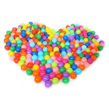 100pcs Colorful Plastic Ball Funny Toys Soft Ocean Balls for The Pool Baby Swim Pit Toy Outdoor Stress Ball Balloons