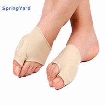 цена SpringYard Gel+Fabric Hallux Valgus Bunion Protector Sleeve Big Toe Corn Cushion Soft Foot Care for Men Women