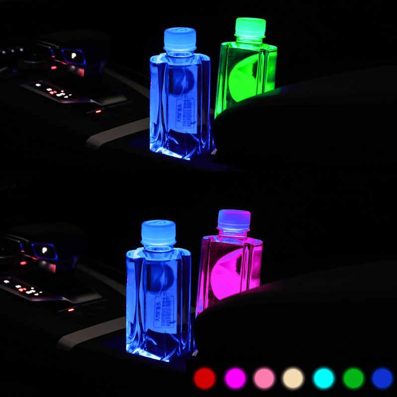 2X lumières de tasse de Logo de voiture à LED pour Nissan Qashqai SYLPHY patrouille teana Juke tiida x-trail t32 Logo lumière accessoires de caboteur lumineux