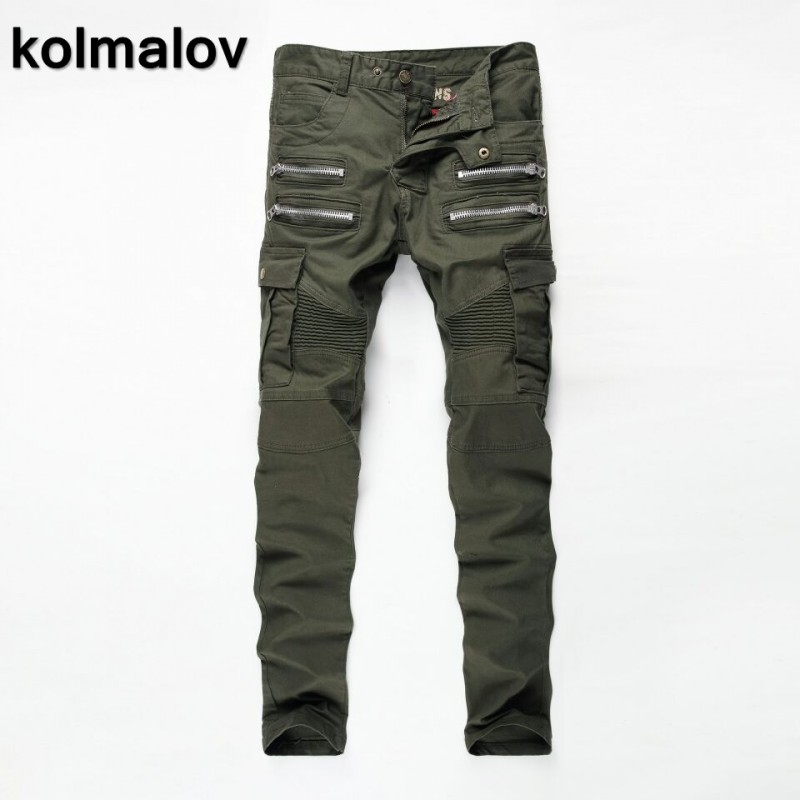Kolmakov 2017 new arrivals men's casual style army green trousers ,men high quality fashion jeans and cargo pants size28-38.