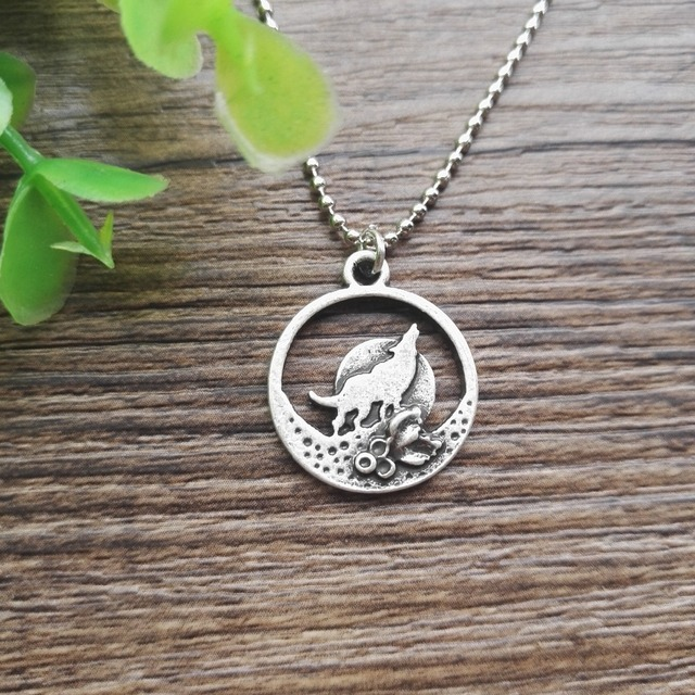 US $26 0  Wolf Pendant Woodland Jewelry Howling Wolf Necklace Wolf Totem  Necklaces Spirit Animal Jewelry SanLan-in Pendant Necklaces from Jewelry &