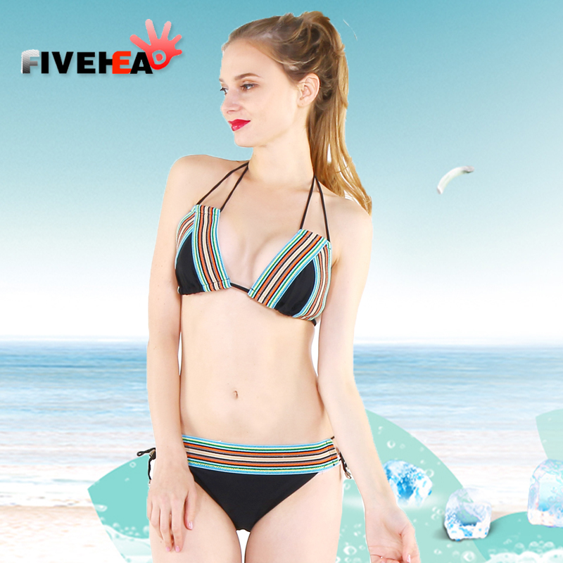 retro bikini women swimwear striped sexy black back lace swimsuit bathing suit biqiuni sling large size big cup plus bust lena gaga swimsuit cover up set bikini 2017 xxxl xl vintage bikini retro fat breast big bust bow bikini plus size swimwear women