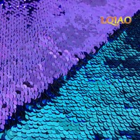 125 45CM Reversible Mermaid Paillette Sequin Fabric For Tissue Kids Bedding Textile For Sewing Tilda Doll