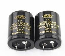 2 pièces NOVER Audio De Puissance Condensateur 10000 UF/35VDC Négatif Noir Capacité