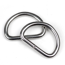 (10 pieces/lot) 30mm Metal D-shaped buckle. metal D ring. Semicircle button. Bags mountaineering backpack accessories.