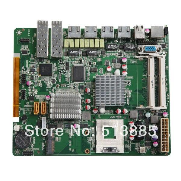 GM45 Chipset industrial motherboard,2*RS-232,6*USB,6*RJ45 LAN (GM45-6LAN)