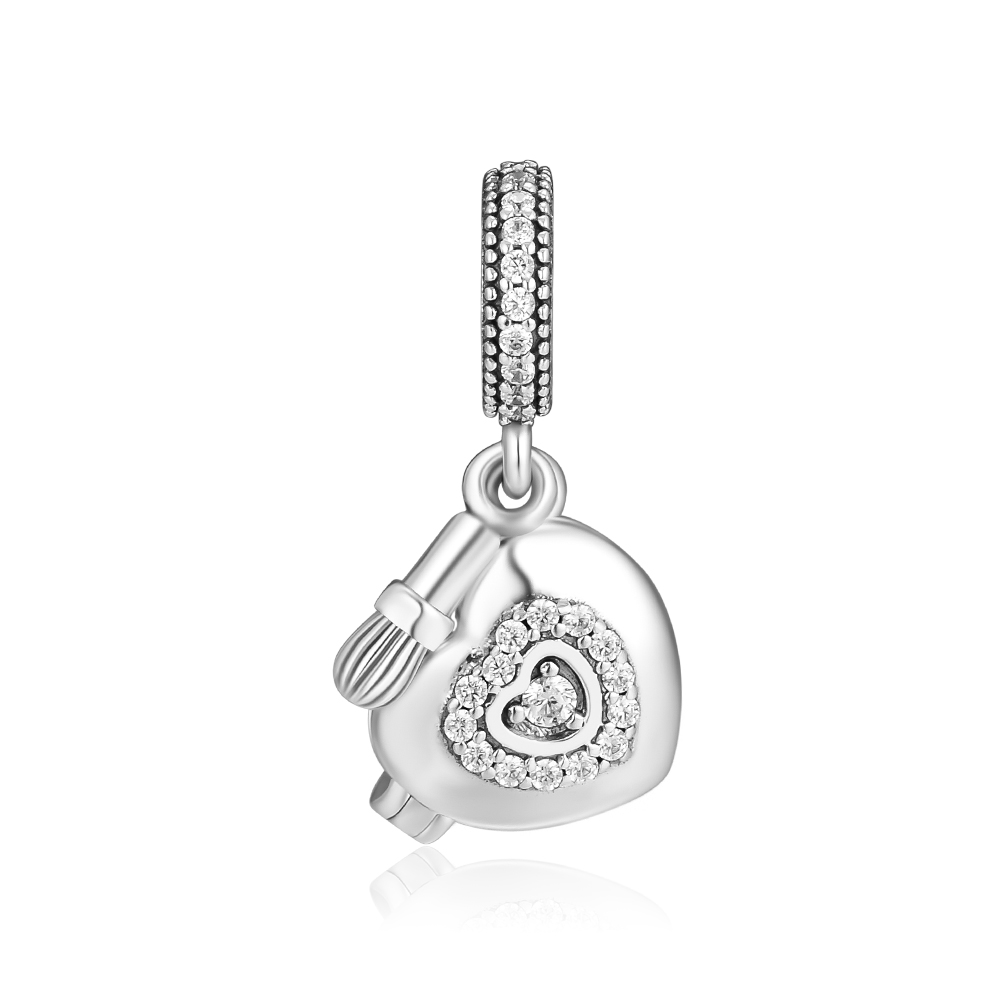 CKK Fits For Pandora Charms Bracelets My Beautiful Powder Box Beads 100% 925 Sterling-Silver-Jewelry