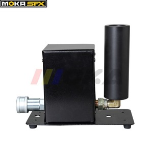 Image 3 - 2 قطعة/الوحدة بالجملة DMX 512 مرحلة Co2 طائرة آلة الجافة الجليد الضباب تأثير ، CO2 الدخان آلات المؤثرات الخاصة مدفع