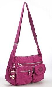Image 3 - TEGAOTE Bolso de hombro de nailon con cremallera para mujer, bandolera para playa, de verano