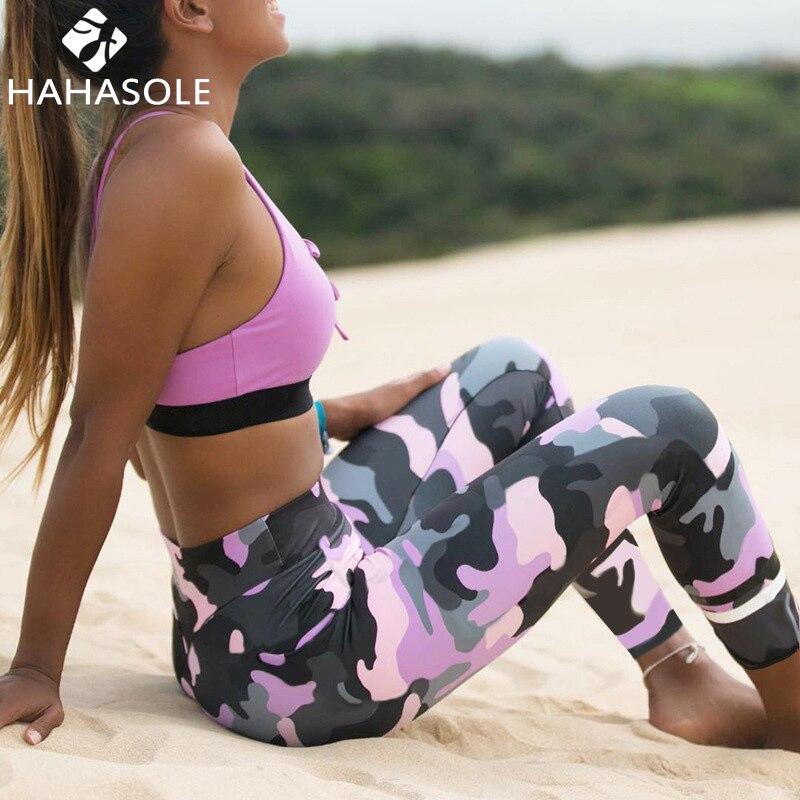 HAHASOLE Women Autumn Leggings Yoga Pants High Waist Tight