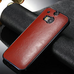 newest 5cf3a 80044 US $6.99 |Leather Hard Back Cover for HTC One M8 Luxury Crazy Horse Leather  case for HTC M8 phone original case for HTC M8 Newest Hot !!! on ...
