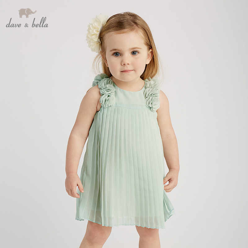 DB10206 dave bella summer baby girl's princess cute floral dress children fashion party dress kids infant flower lolita clothes