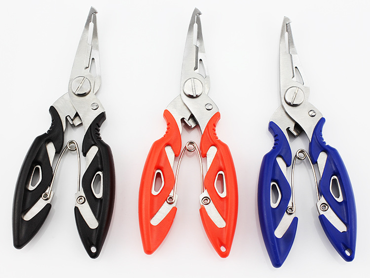 Stainless Steel Fishing Pliers Split Ring Hook Remover Line Cutters Yellow