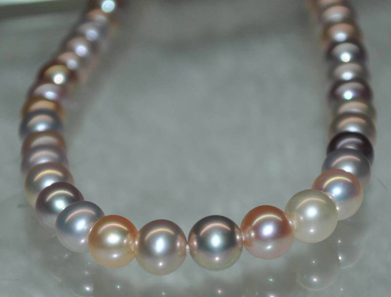 Outstanding Luster Natural RARE Multi AAA 6 7mm Round Freshwater Pearl 12539 стоимость