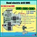 3 S 30A BMS PCM литий-ионный аккумулятор доска для электроинструмент ручная дрель электрическая отвертка с высокий ток Реле Температуры
