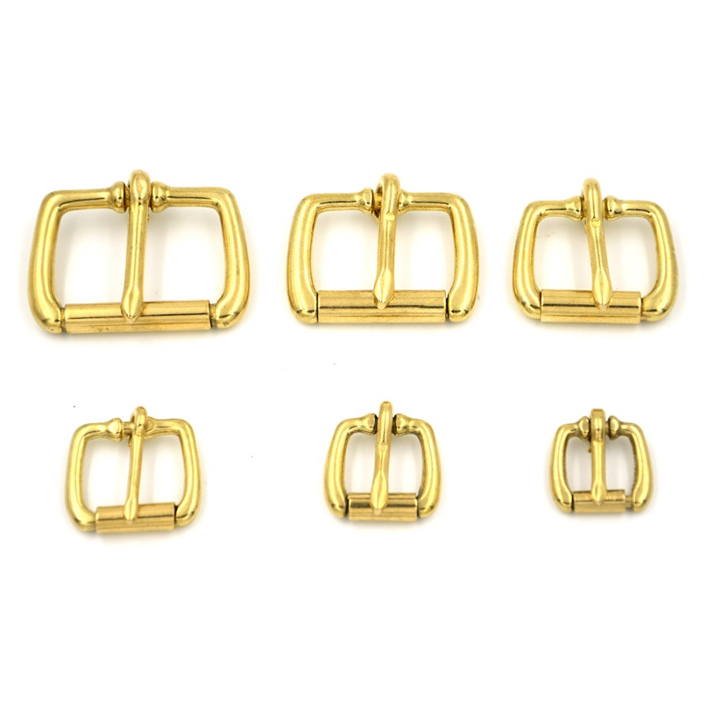 5pcs 25mm Belt Buckle with Roller Antique Vintage Pure Brass Gold Lot Leathercraft Bronze in Buckles Hooks from Home Garden