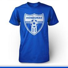 Seleccion Nacional Honduras Catracha Futbol Soccer T Shirt Camiseta Blue  Azul High Quality Custom Printed Tops dbed93a88daed