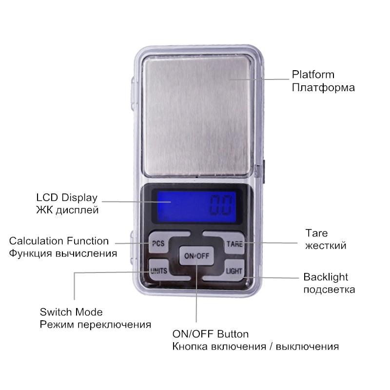 1 kg 0.1g Cyfrowa elektroniczna Przenośna biżuteria Jedzenie - Przyrządy pomiarowe - Zdjęcie 4