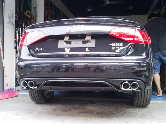 Abt Style Carbon Fiber Rear Diffuser For Audi A4 B8 B9 In Bumpers