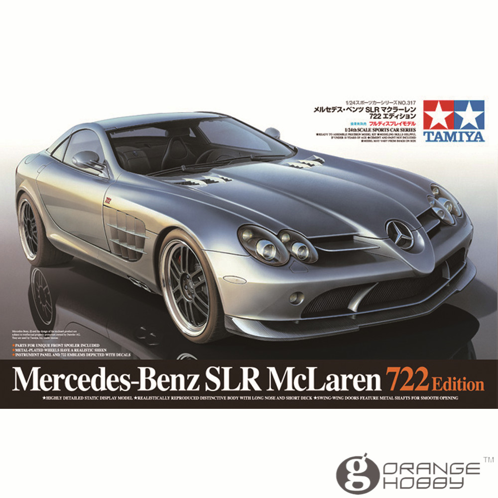 ФОТО OHS Tamiya 24317 1/24 SLR Mclaren 722 Edition Scale Assembly Car Model Building Kits