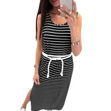 fb18e03c4f4cb Popular Sleeveless Side Split Long Bodycon Dress-Buy Cheap ...