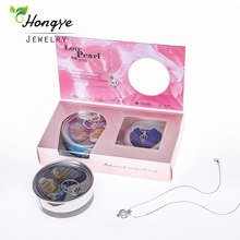 Hongye Pearl Necklace Wish Boxes Natural Freshwater Pearl Pendant Women Fashion Cage Holder Necklace Oyster for Christmas Gift(China)