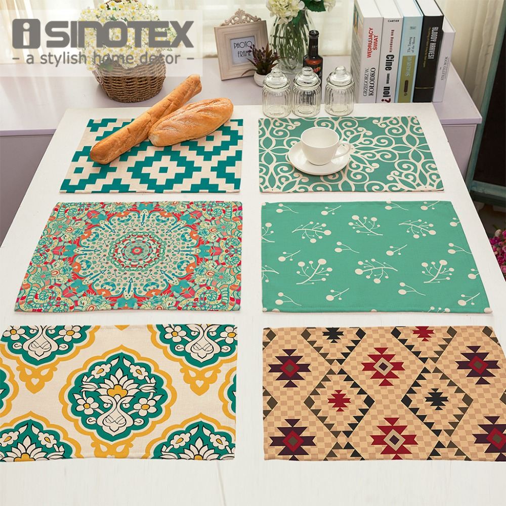 Modern Chairs Top 5 Luxury Fabric Brands Exhibiting At: Placemat Table Mat Geometric Printed For Tables Christmas