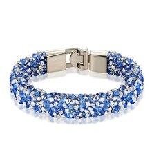JANEYACY бренд новая мода кристалл браслет мужской браслет женский браслет, лучший подарок 1-10 цветов
