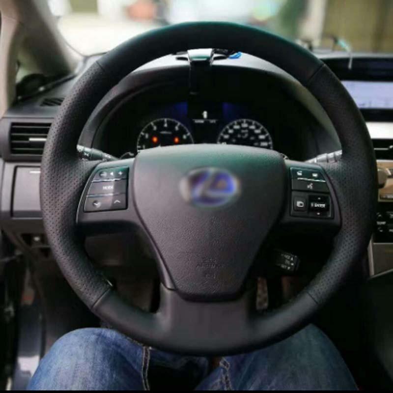 2011 Lexus Rx Interior: Savanini Top Cowhide Sew On All Black PU Leather Steering