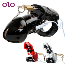OLO Adult Products Penis Cock Cage Male Chastity Device Medical Themed Toys Electric Shock Dildos Cage Sex Toys for Men