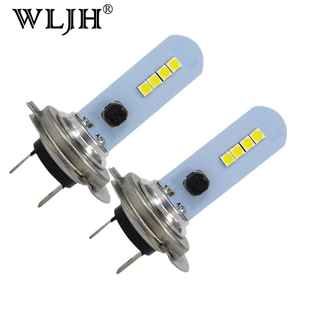 wljh 2 pcs h7 led luzes do carro 1000lm lampada led branco luzes de nevoeiro carro